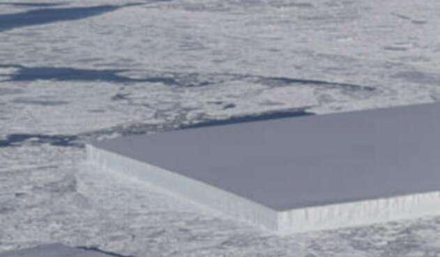 El iceberg rectangular que fue avizorado en Antártida