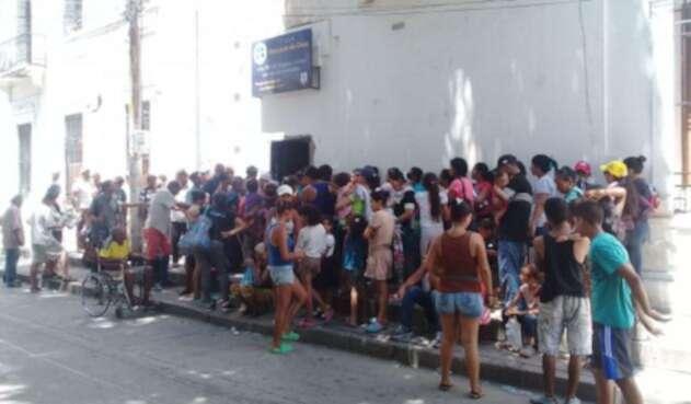 Ciudadanos venezolanos en la Casa San Juan de Dios en Santa Marta