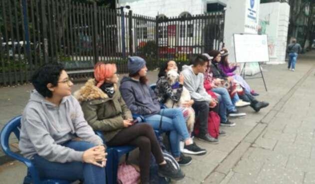 Estudiantes de la Universidad Pedagógica iniciaron una huelga hambre y palabra