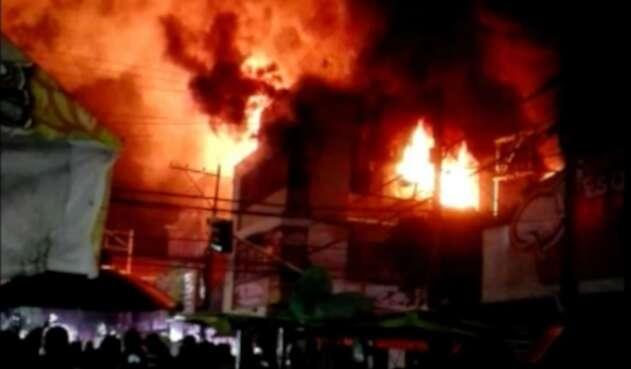 Incendio tienda calzado Cúcuta