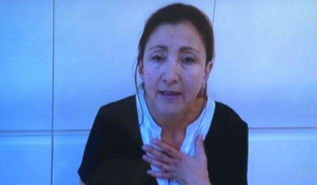 Ingrid Betancourt narró sus experiencias en medio del secuestro ante la JEP.