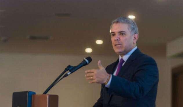 El presidente Iván Duque dice que sin reelección presidencial se puede eliminar dicha iniciativa.