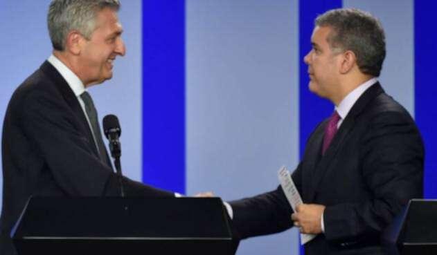 Filippo Grandi y el presidente Iván Duque