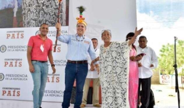 Iván Duque, presidente de Colombia, en La Guajira