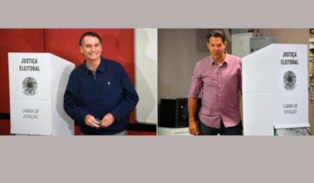 Jair Bolsonaro y Fernando Haddad, candidatos presidenciales en Brasil