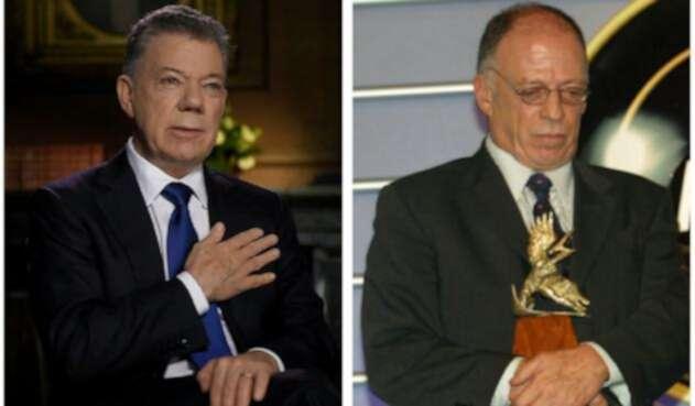 Juan Manuel Santos y Enrique Santos