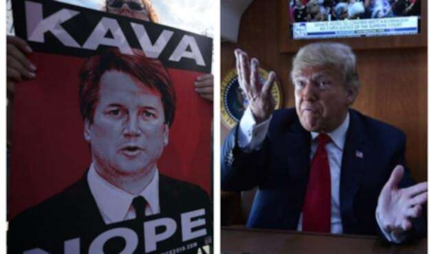 Brett Kavanaugh y Donald Trump