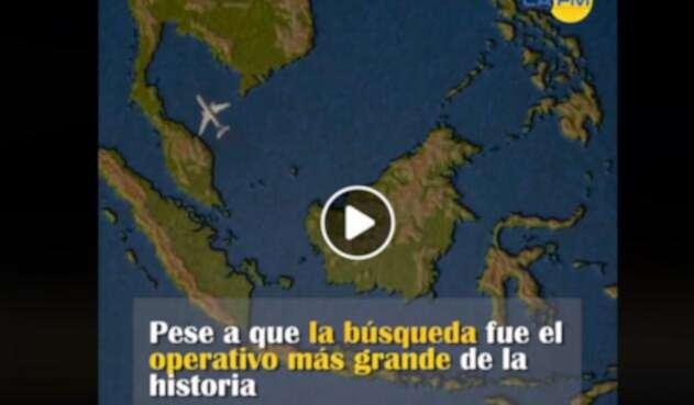 Imagen ilustrativa de la ruta del Malaysia Airlines