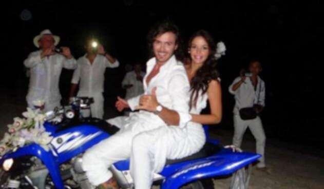 Maleja Restrepo y Tatán Mejía en su boda