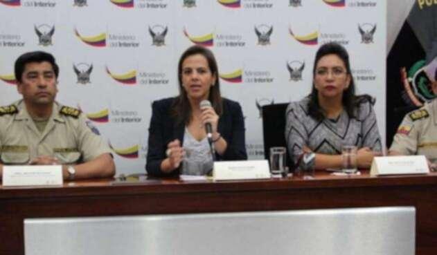 Maria Paula Romo, ministra del Interior de Ecuador habla sobre venta de armas a alias Guacho