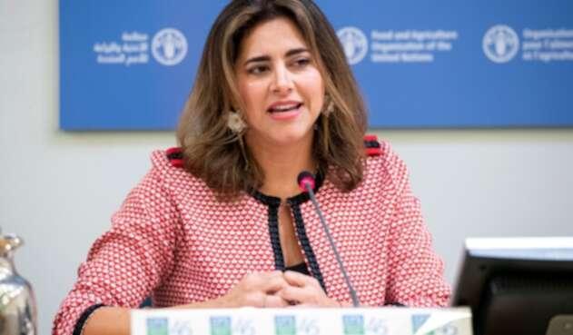María Juliana Ruiz, primera dama de la Nación, en Roma (Italia)