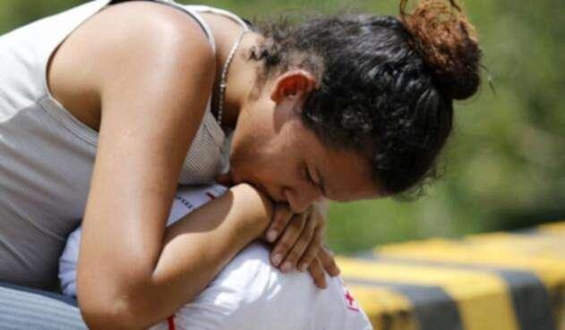 Migrante venezolana en Cúcuta