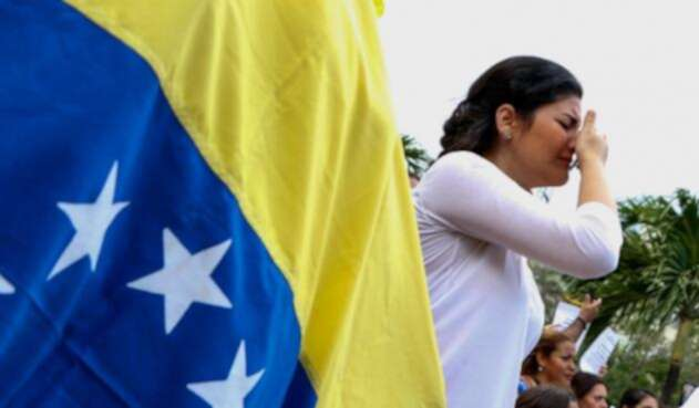 Migrante venezolana Cúcuta, en la frontera con Colombia