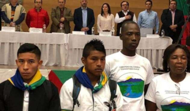 Audiencia con defensores de derechos humanos en el Cauca