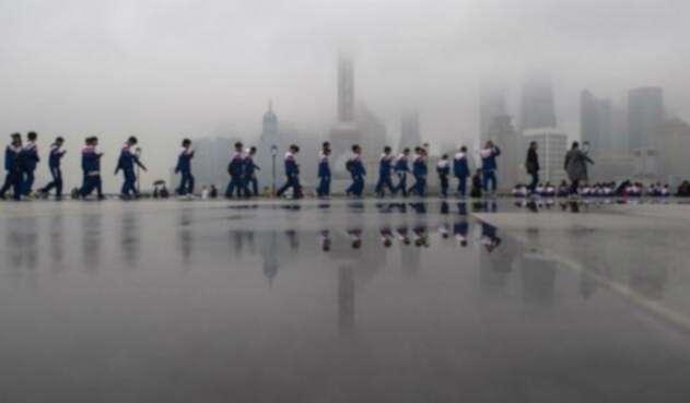 Niños de colegio en China
