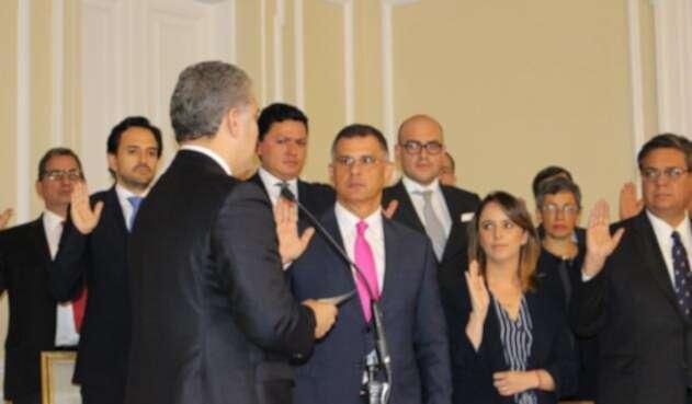 El nuevo director del Invima asumió su cargo ante el Presidente Iván Duque.