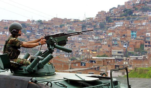 Operación Orión en la Comuna 13 de Medellín.