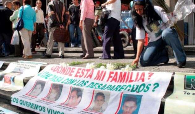 Familiares en Medellín de las personas víctimas del conflicto