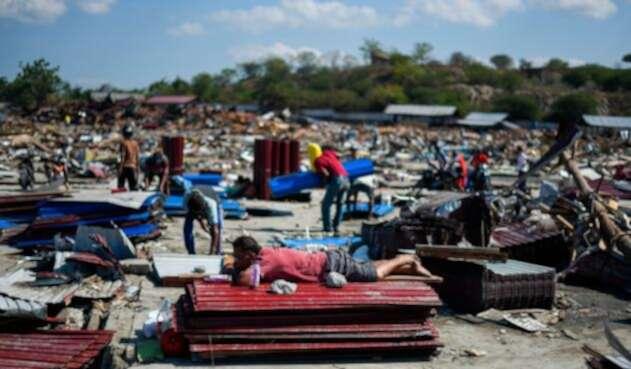 Palu, una ciudad de 350.000 habitantes situada a unos 80 kilómetros del epicentro del terremoto