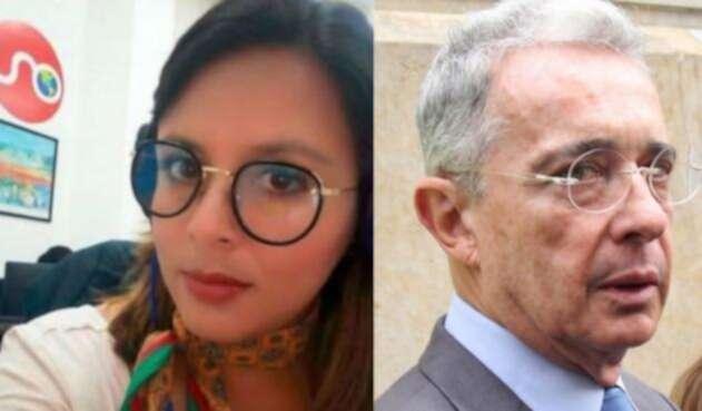 En el Senado se presentó un fuerte altercado entre el expresidente Álvaro Uribe Vélez y la periodista de Noticias Uno, Paola Rojas.