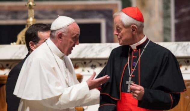 Papa Francisco y cardenal Donald Wuerl