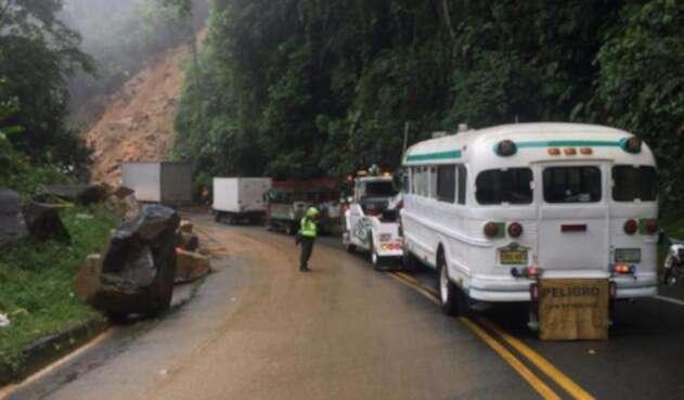 Habilitaron paso a un carril en la autopsita Medellín-Bogotá
