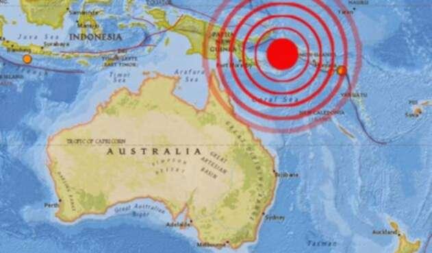 """Papúa Nueva Guinea se sitúa en el llamado """"cinturón de fuego"""" del Pacífico."""
