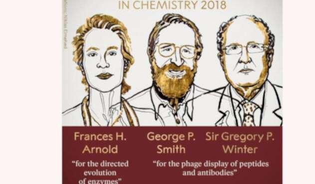 Los galardonados con el Premio Nobel de Química 2018