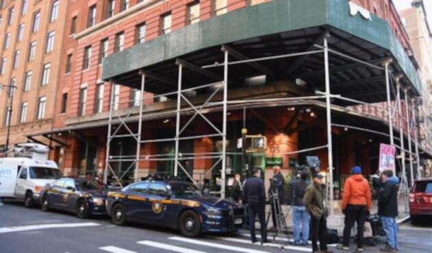 Las autoridades en Nueva York, en inmediacioens del restaurante de Robert de Niro