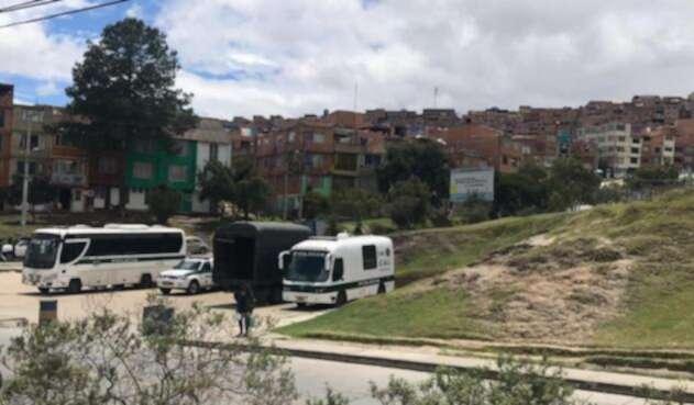sitio donde lincharon y asesinaron a un hombre en Bogotá