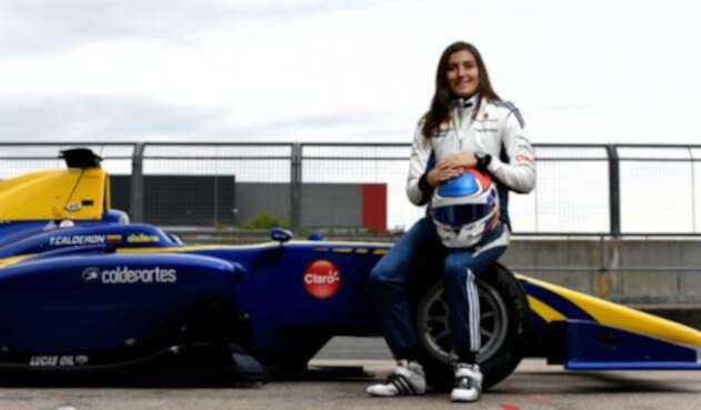 La primera oportunidad que tuvo Tatiana Calderón fue en el autódromo mexicano de F1 Hermanos Rodríguez.