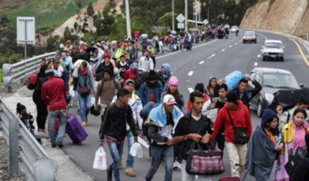 Venezolanos migración