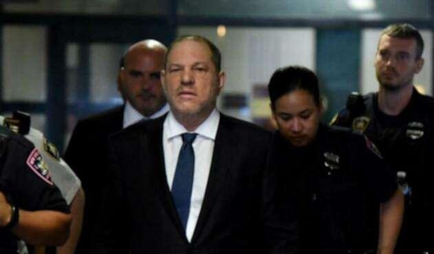 Harvey Weinstein al llegar a la Suprema Corte estatal de Manhattan.