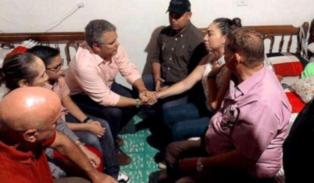 Presidente Iván Duque visitó la familia del pequeño Cristo José Contreras
