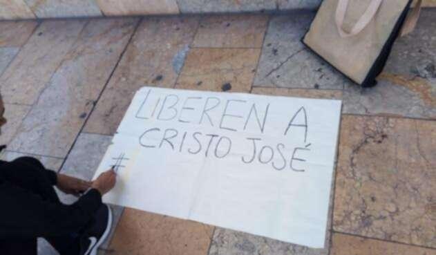 Marcha en Bogotá por la liberación de Cristo José