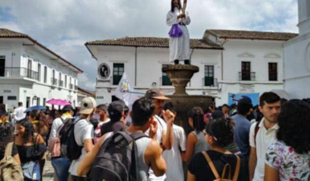 Protesta estudiantil en Popayán