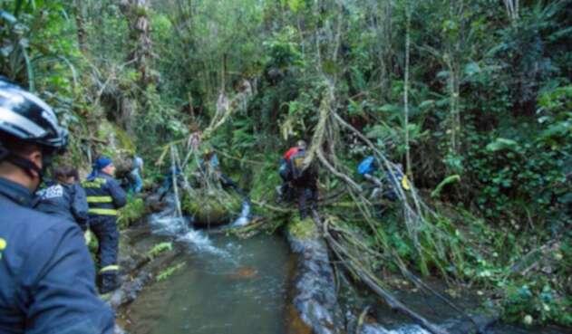 Rescate del alcalde Peñalosa en los cerros de Bogotá