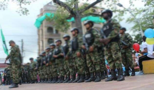 Militares en formación