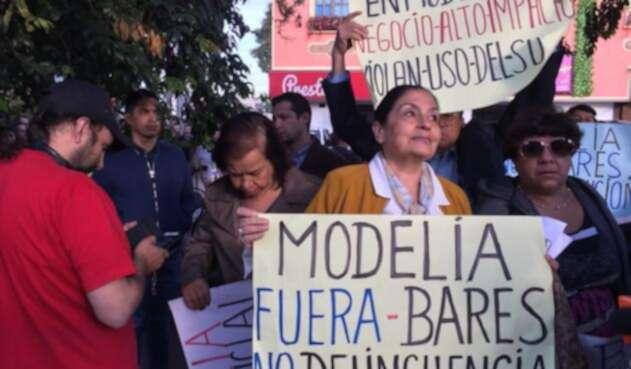 Protestas en Modelia por presencia de bares