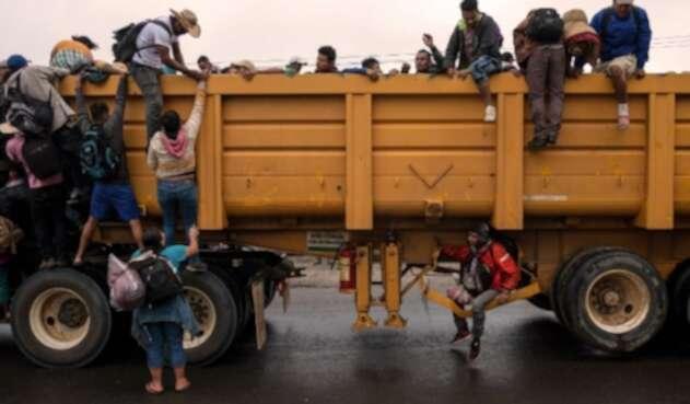 Caravana migrantes centroamericanos