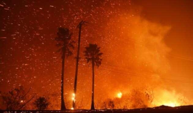 """El incendio fue bautizado como """"Camp Fire""""."""
