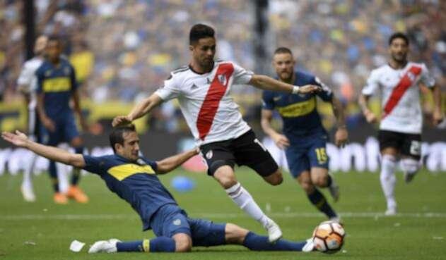 Boca vs River en el estadio La Bombonera.