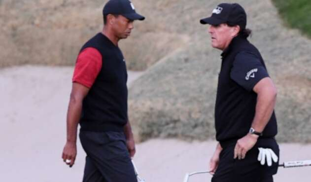 Tiger Woods y Phil Mickelson