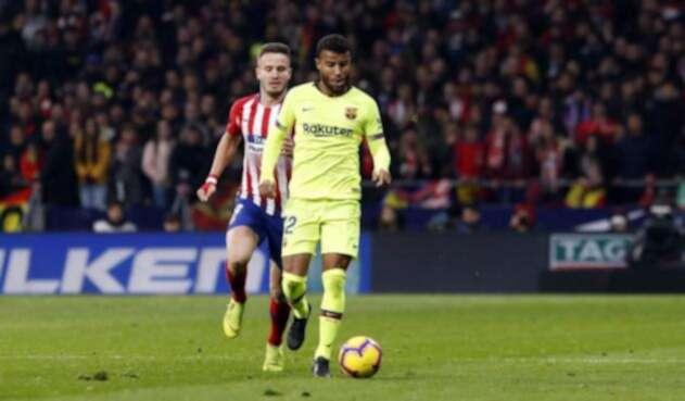 Rafinha en el juego entre Barcelona y Atlético de Madrid en el Wanda Metropolitano