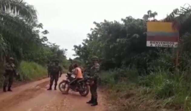 Control militar en la zona de frontera entre Colombia y Venezuela en Norte de Santander