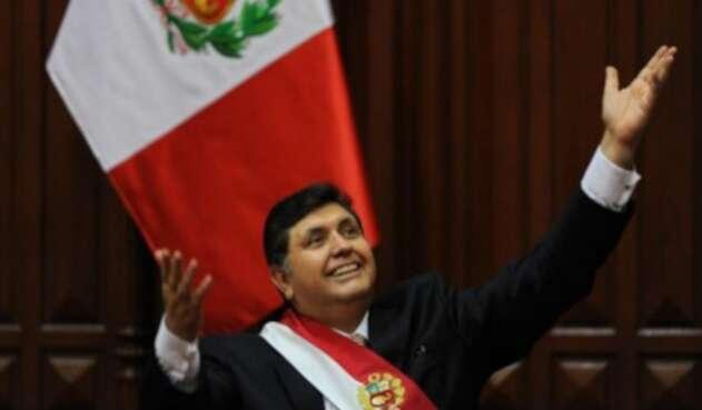 Expresidente peruano Alan García.