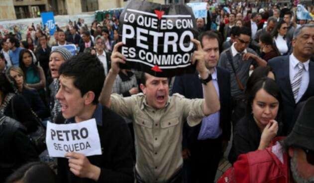 Manifestaciones en favor de Gustavo Petro