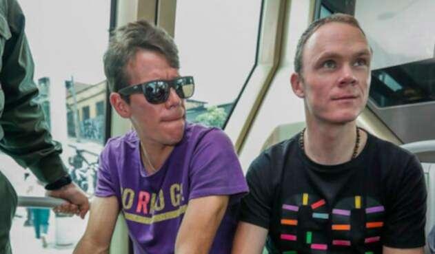 Chris Froome y Rigoberto Urán