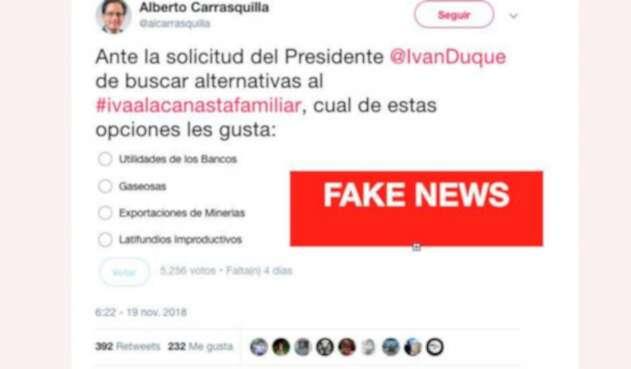 El sondeo promovido desde la cuenta @alcarrasquilla