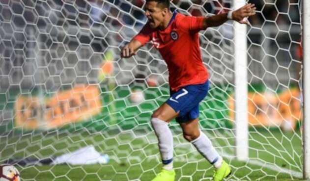 Alexis Sánchez, delantero chileno, tras fallar un penal